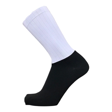 TeamSocks Elite Cykelstrømper - Black and White Aero